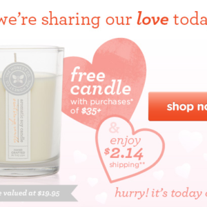 Free Full Sized Candle with Purchase from Honest Company – Today Only!
