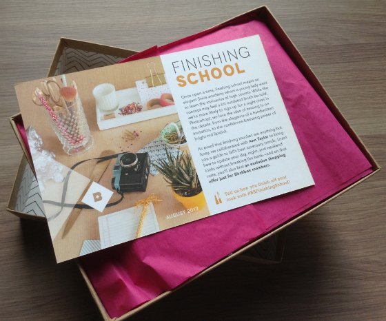 Birchbox August 2013 Review - Beauty Subscription Box
