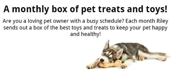 New Subscription Box for Dogs & Cats - Riley Petbox