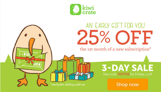 New Kiwi Crate Coupon - 25% Off!
