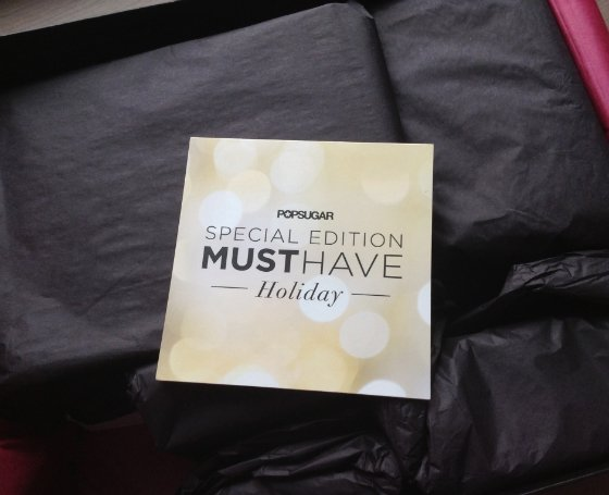 POPSUGAR Must Have Special Edition Holiday Box Review Packaging