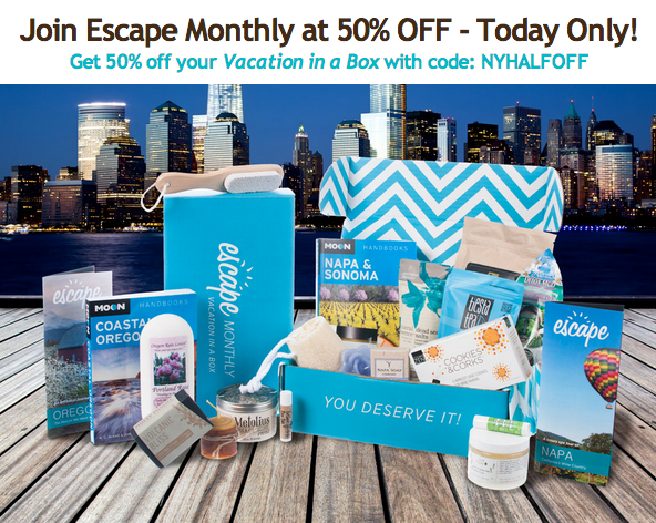 50% Off Escape Monthly