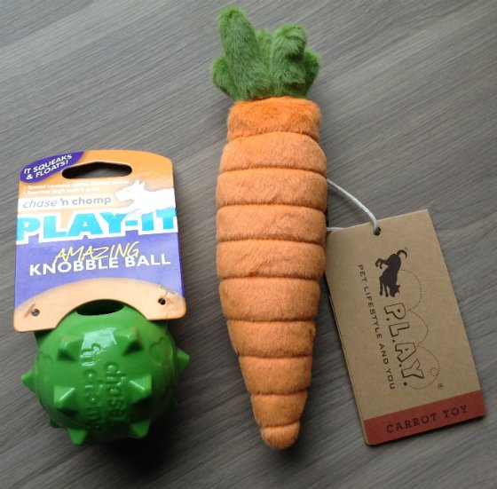 BarkBox Subscription Box Review & Coupon - May 2014 Toys