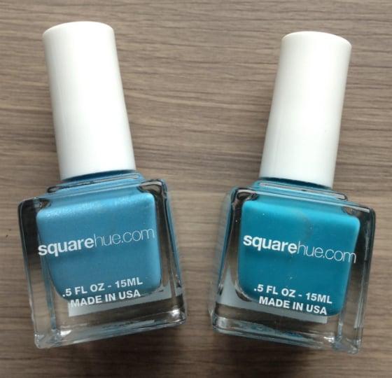 Square Hue Nail Polish Subscription Box Review - June 2014 Blues