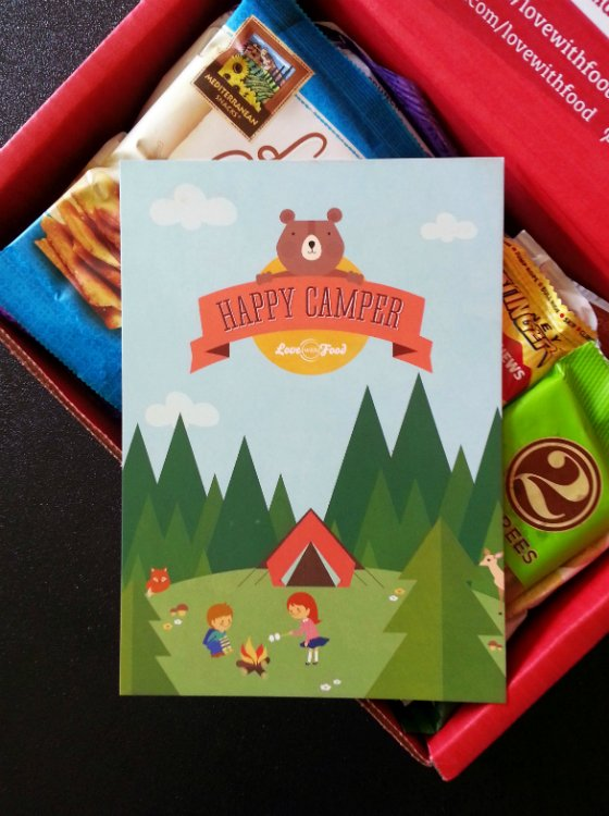 Love With Food Subscription Box Review & Coupon – July 2014 Happy Camper