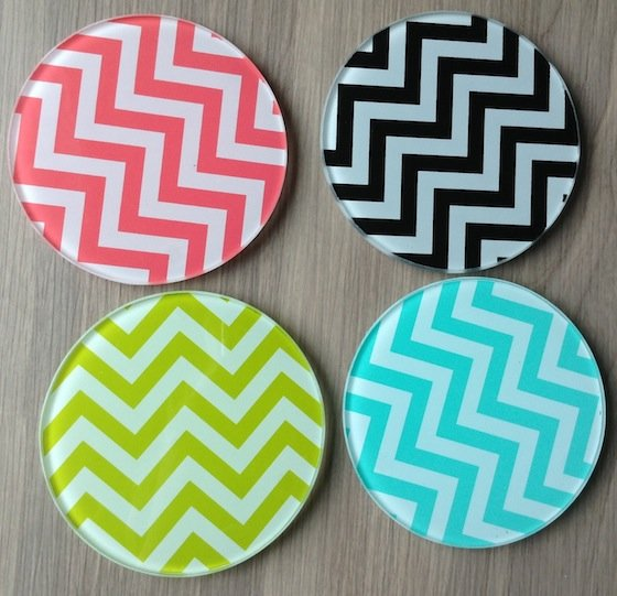 Fancy Box Review - August 2014 Coasters