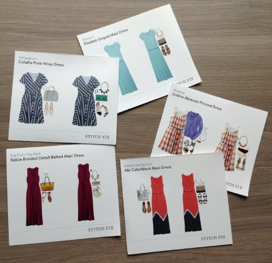 Stitch Fix Review - August 2014 Cards