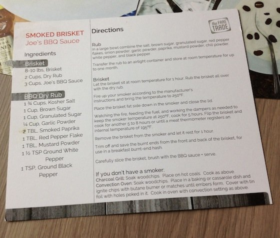 The Fare Trade Food Subscription Box Review – August 2014 Recipe