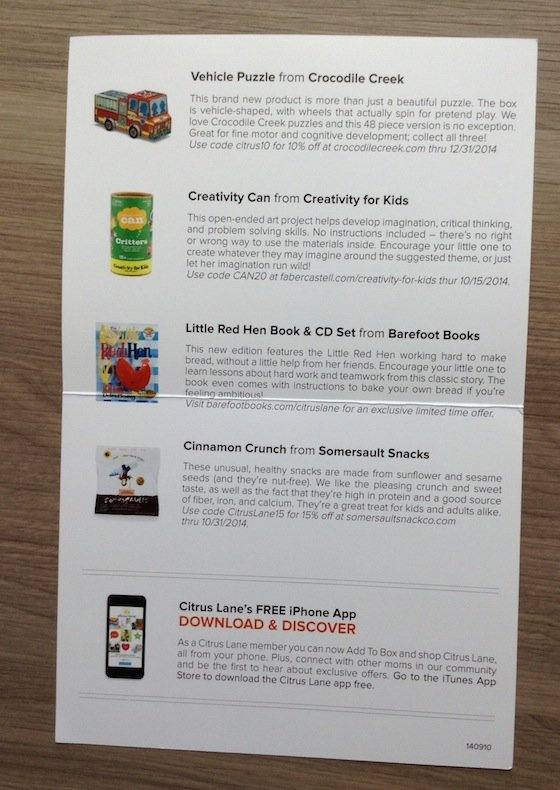 Citrus Lane Review & Coupon Code – September 2014 Info