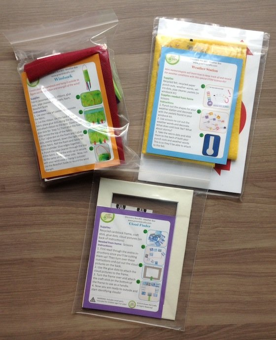 Green Kid Crafts Subscription Box Review - Sept 2014 Packs