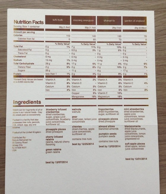 Graze Snack Subscription Box Review – October 2014 Info