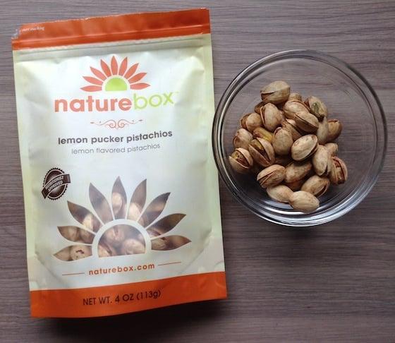 Nature Box Subscription Review & 50% Off Coupon - Oct 2014 Pistachio