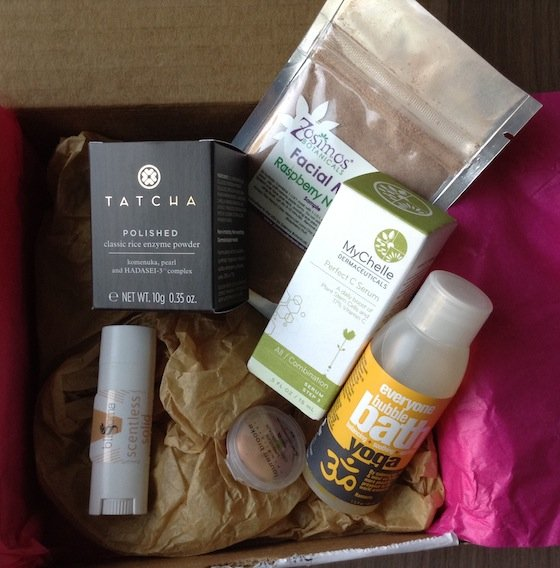 GoodeBox Eco Beauty Subscription Box Review – Nov 2014 Items