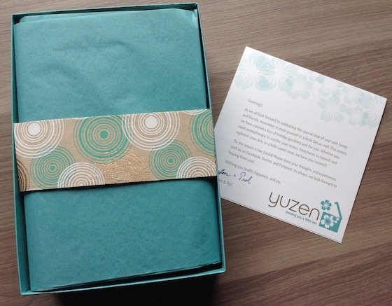 Yuzen Beauty Subscription Box Review – Winter 2014 Box