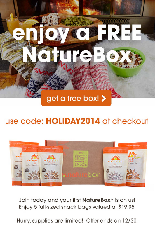 New Nature Box Coupon Code - Get a Free Box
