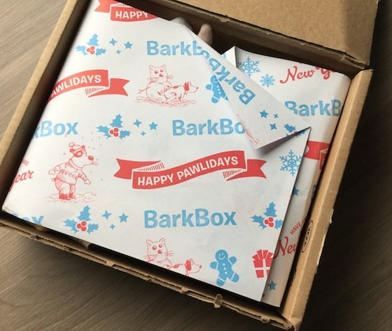 BarkBox Subscription Box Review & Coupon – Dec 2014 Box