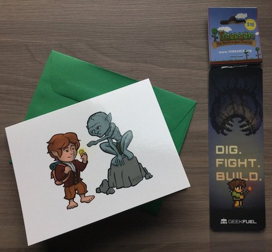 Geek Fuel Subscription Box Review - December 2014 Card