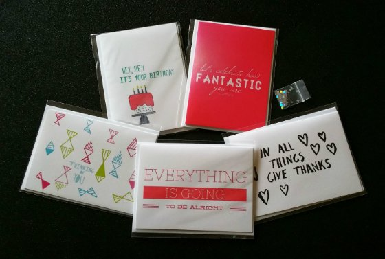 Hello Happiness Card Company Subscription Review - Dec 2014 Items