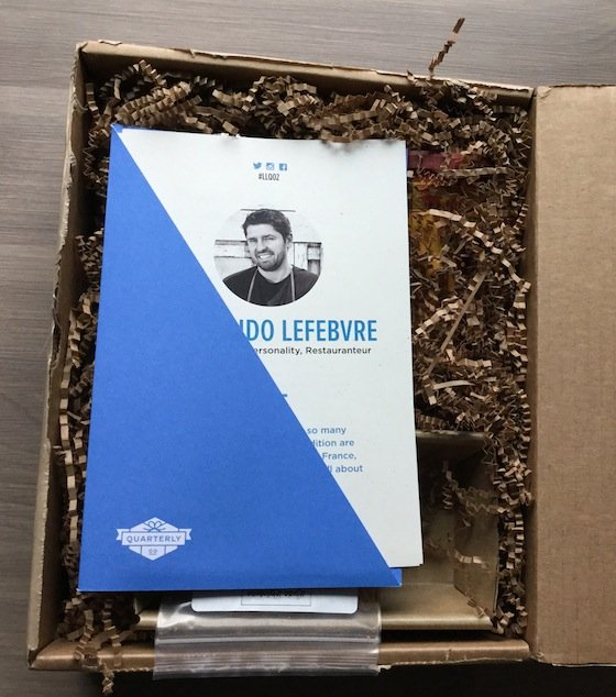 Chef Ludo Lefebvre Quarterly Subscription Box Review #LLQ02 Box