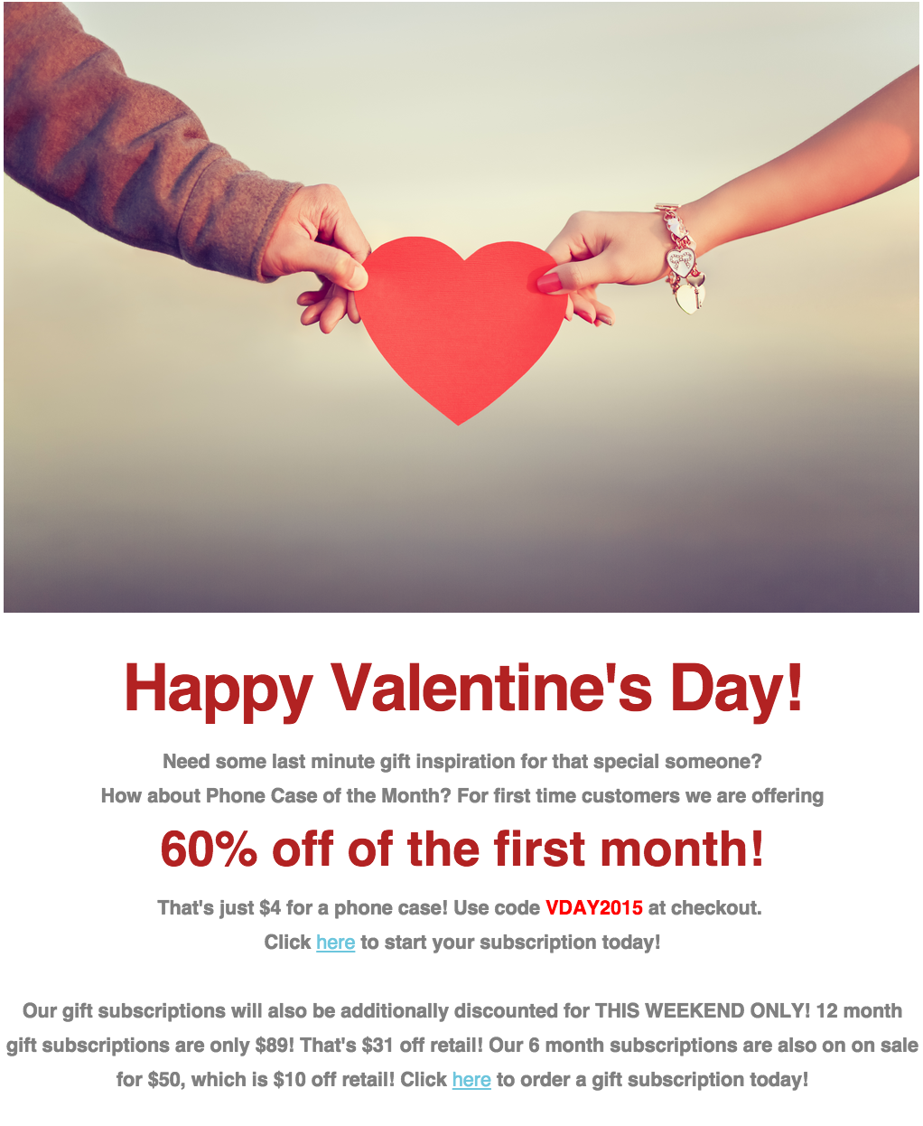 Phone Case of the Month Valentine's Day Sale!