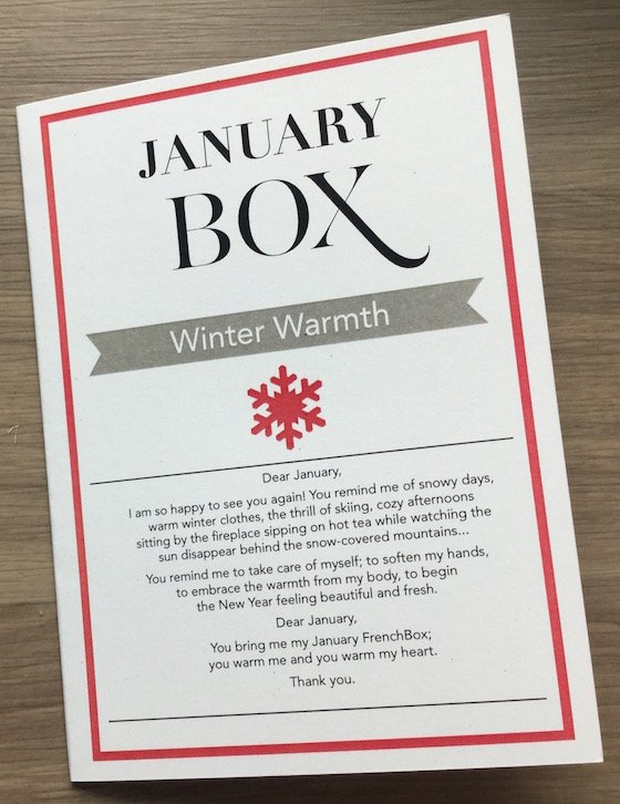French Box Subscription Review – January 2015 Info