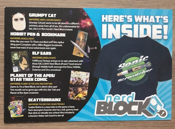 Nerd Block Subscription Box Review – January 2015 Info