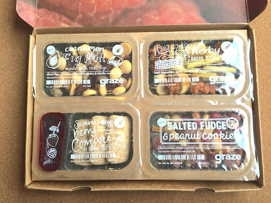 Graze Subscription Box Review + Free Box Coupon - March 2015 Contents