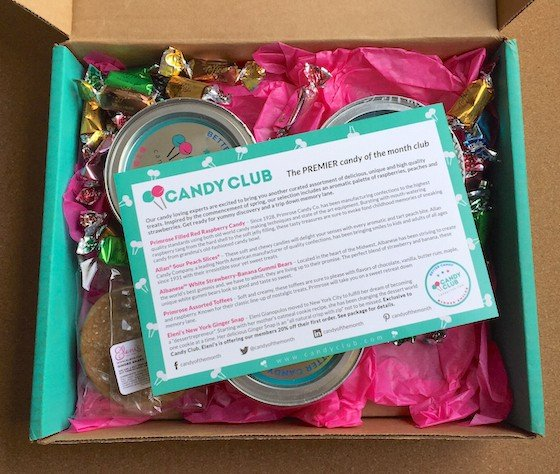 Candy Club Subscription Box Review + Coupon – April 2015 Inside