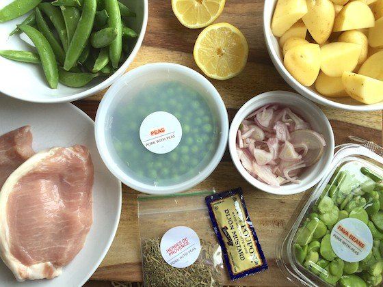 Plated Subscription Review + Free Box Coupon - April 14, 2015 - Pork Ingredients
