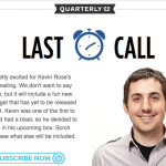 Kevin Rose Quarterly Box Spoilers #KEV02 Last Call