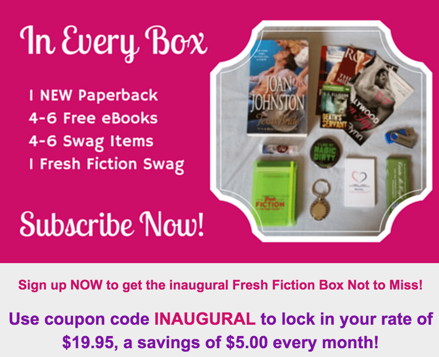 New Book Subscription Box from Fresh Fiction! Details