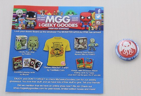 My Geeky Goodies Subscription Box Review – March 2015 Info