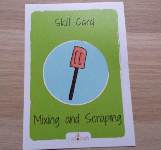 Raddish Kids Subscription Box Review – April 2015 Skill Card