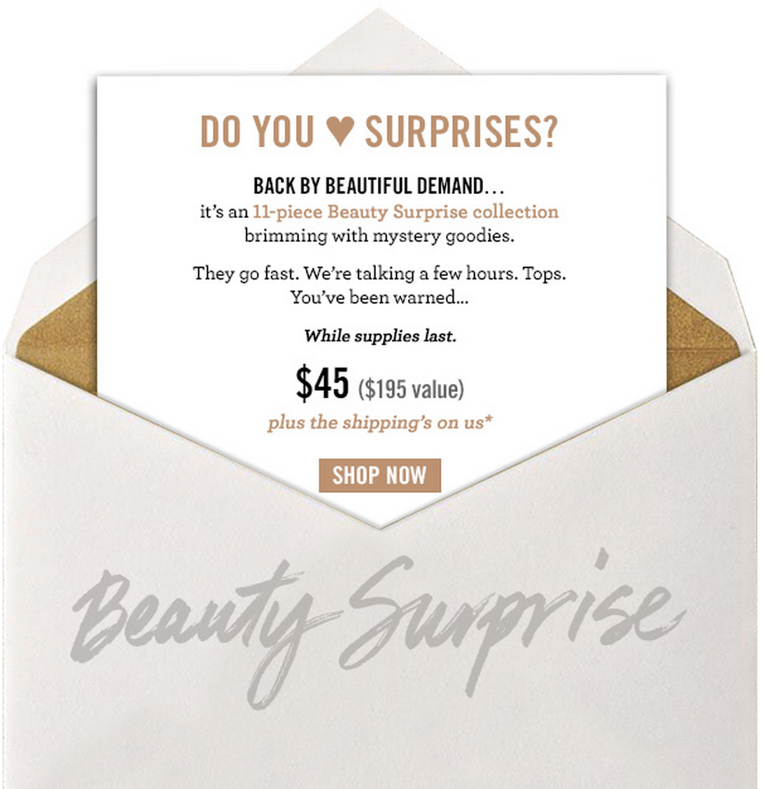Bare Minerals Mystery Box Available Now!
