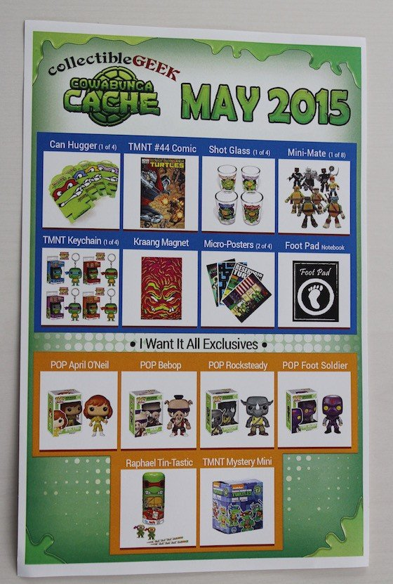 Collectible Geek Collector's Cache Review – May 2015 Info