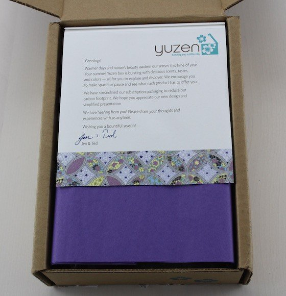 Yuzen Beauty Subscription Box Review – Summer 2015 Box