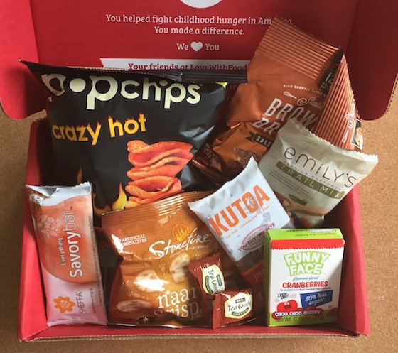 Love with Food Subscription Box Review & Coupon – June 2015 - Contents