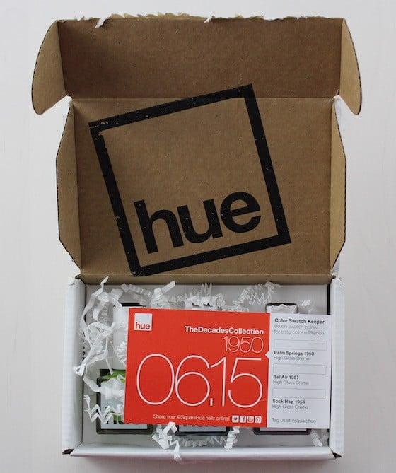 Square Hue Nail Polish Subscription Box Review – June 2015 Box