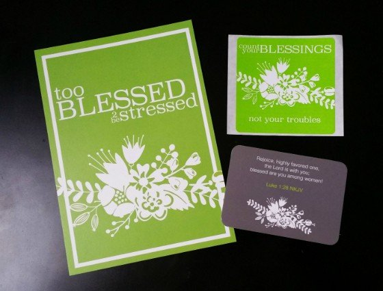 Loved + Blessed Subscription Box Review – July 2015 - items 1