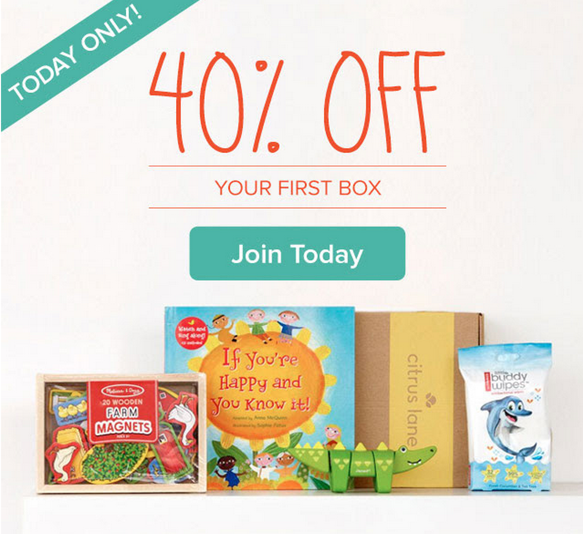 Today Only - 40% Off Citrus Lane + Free Melissa & Doug Gift