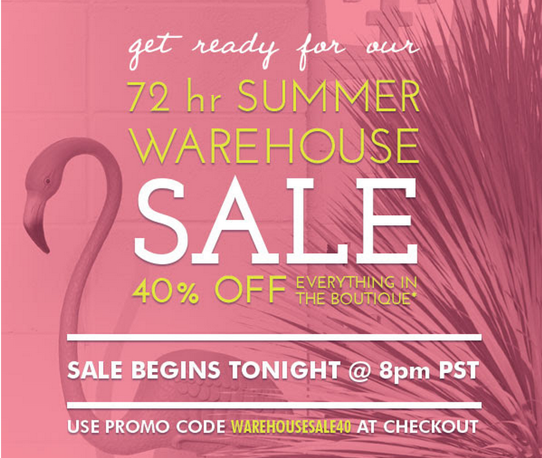 Golden Tote Warehouse Sale Launches Tonight at 11 PM ET