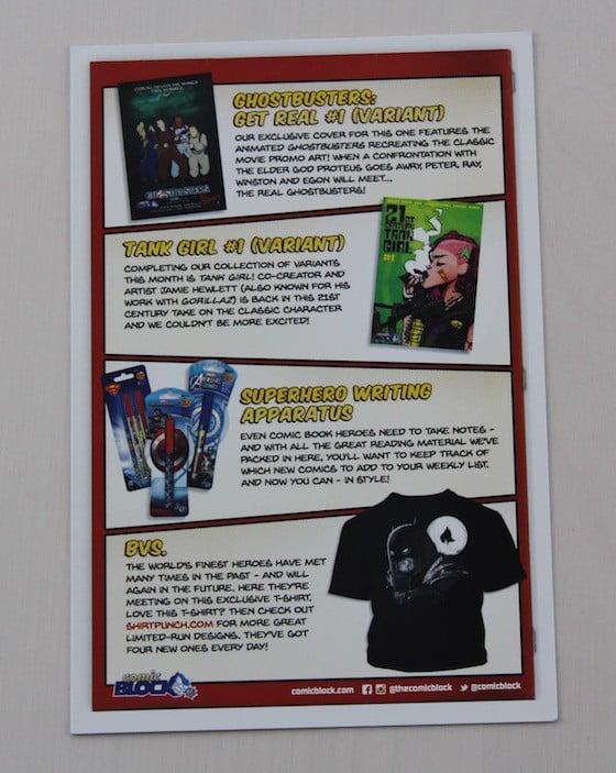 Comic Block Subscription Box Review + Coupon - June 2015 - info