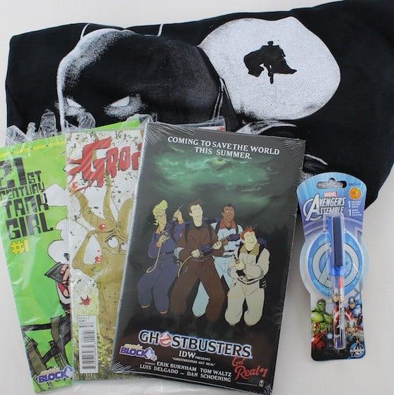 Comic Block Subscription Box Review + Coupon - June 2015 - items