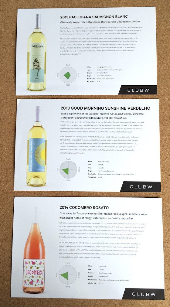 Club W Wine Subscription Review & Coupon – August 2015 - Cards2