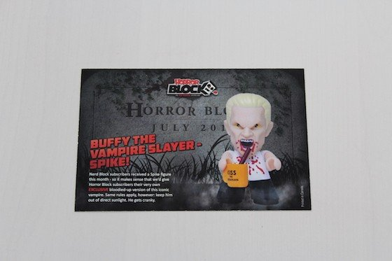 Horror Block Subscription Box Review – July 2015 - Card Front