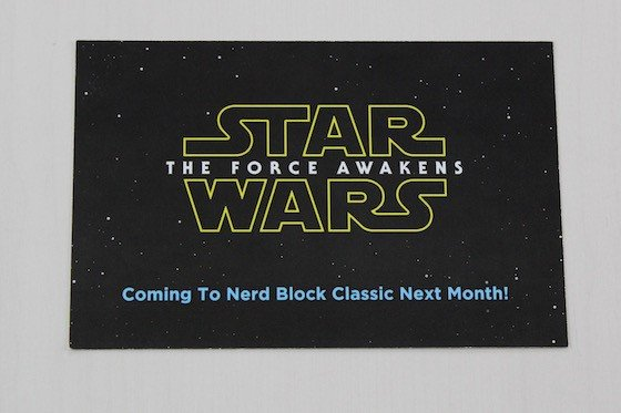 Nerd Block Subscription Box Review + Coupon – August 2015 - Star Wars in September