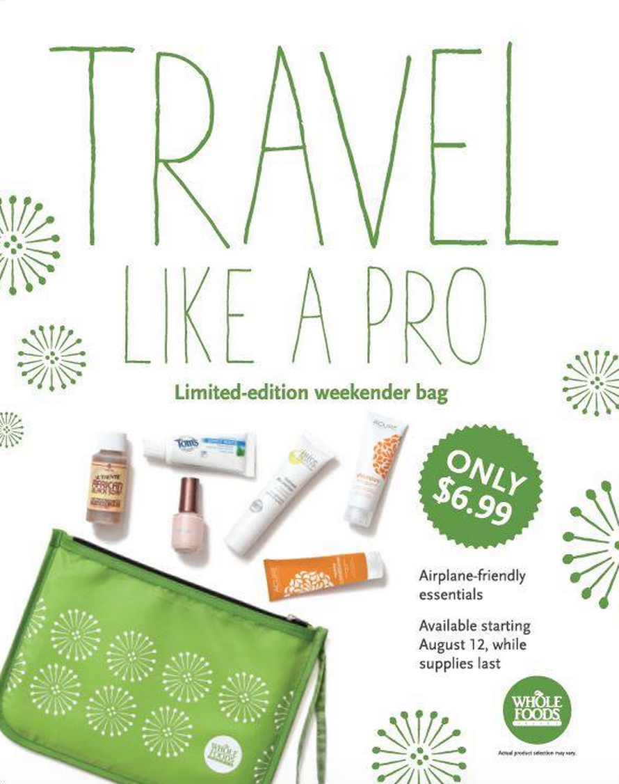 Whole Foods Travel Bag on Sale 8/12