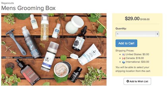 Vegan Cuts Men's Grooming Box Review - SCREENSHOT1