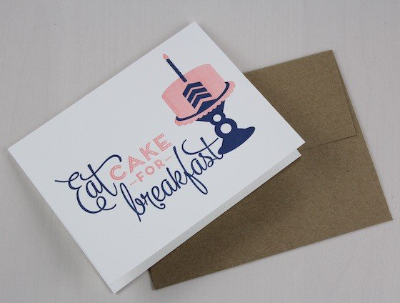 Aster Market Subscription Box Review - August 2015 Cake