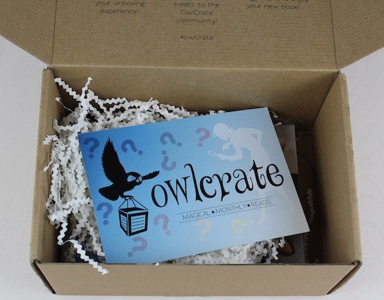 OwlCrate YA Book Subscription Box Review – August 2015 Open